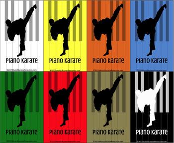 Piano Karate Belt Cards