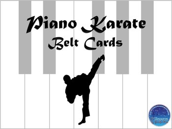 Piano Karate Belt Cards