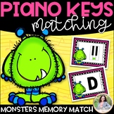 Piano Key Monsters {Music Alphabet Cards ABCDEFG, Color &