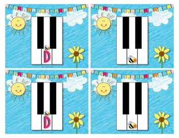 Piano Keys Memory Match Game for Young Students in Piano Lessons