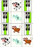 Piano Key Musical Alphabet Memory Game