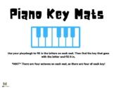 Piano Key Playdough Mats