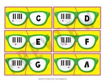 Piano Key Puzzles {ABCDEFG, Color & Ink-Friendly}