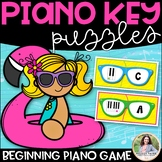 Piano Key Puzzles Beginning Piano Game {ABCDEFG, Color & Ink-Friendly}