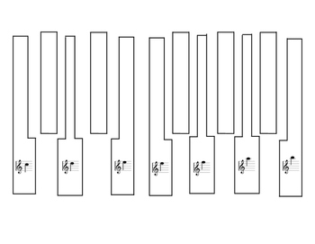 Piano Key Template