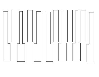 Piano Key Template