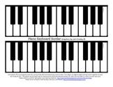 Piano Keyboard Border -       Board Runner or Bulletin Board Trim - FREE