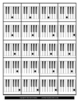 Piano Keyboard Cards