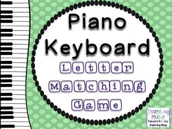 Piano Keyboard Note Names Matching Game