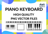 Piano Keyboard Vector Files - High Quality - Resizable PNG