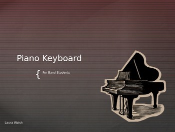 Piano Keyboard for Band Students Power Point
