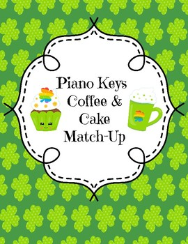 Piano Keys Coffee and Cake Match-Up