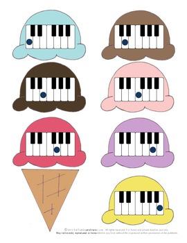 Piano Keys Game: Jumbo Ice Cream Cone