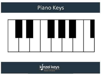 graphic relating to Piano Keyboard Printable called Piano Keys Printable (With and With out Letters by way of Kinzel