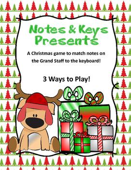 Piano Keys and Presents