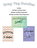 Piano Lesson Brag Tag BUNDLE! Scales, Pentascales and Prog