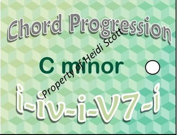 Piano Lesson Brag Tags: Chord Progressions! All Keys Major and Minor