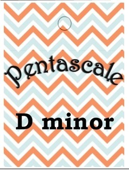 Piano Lesson Brag Tags- Pentascales