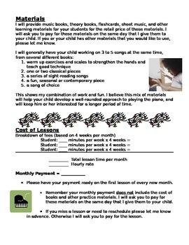 Piano Lesson Contract Template