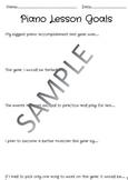Piano Lesson Goals