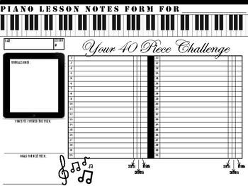 Piano Lesson Student Form