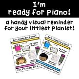 Piano Lesson Visual Checklist - Elementary Edition