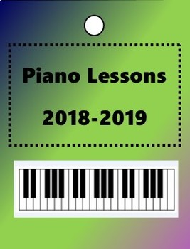 Piano Lessons 2018-2019