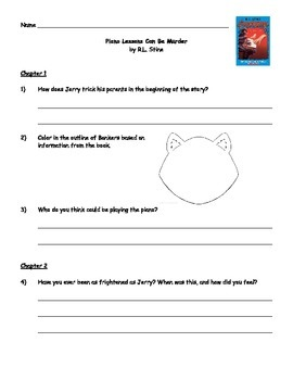 Piano Lessons Can Be Murder - Guided Reading Packet