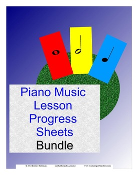 Piano Lesson Progress Sheets Bundle