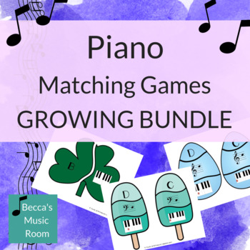 Piano Matching Games for Music Centers GROWING BUNDLE