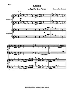 Piano Music - a solo piece and a duet