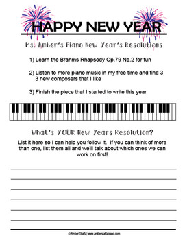 Piano New Years Resolution