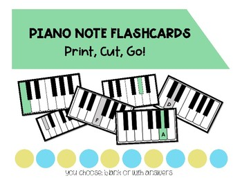 Piano Note Flashcards