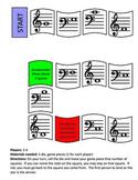 Piano Note Identification Board Game - Primer Level