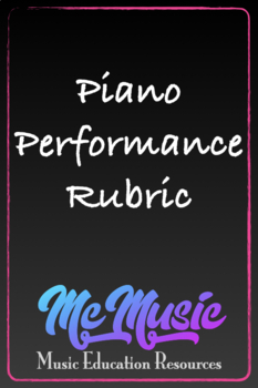 Music Performance Rubric & Worksheets | Teachers Pay Teachers