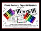 Piano Posters, Borders, Projectables and/or Printables