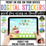 Piano Practice Charts & Digital Stickers: Great for Distan