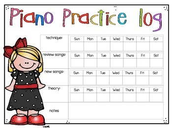 Piano Practice Logs