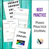 Piano Practice Journal - Planner, Chart, Record