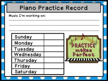 Piano Practice Records