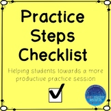 Piano Practice Steps Checklist