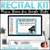 Music Recital Kit {EDITABLE}: Invitations, Program Templates, & Certificates