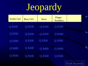 Piano Review Jeopardy