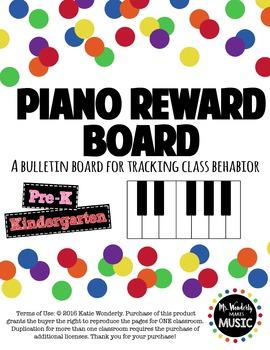 Piano Reward Board - Elementary Music