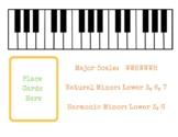 Piano Scale Builder Play dough Mats