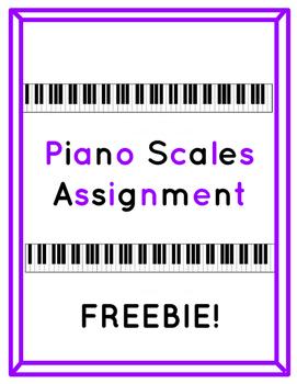 Piano Scales Printable Worksheet
