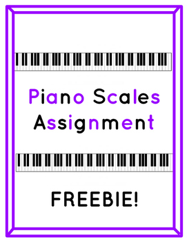 graphic about Scales Printable named Piano Scales Printable Worksheet