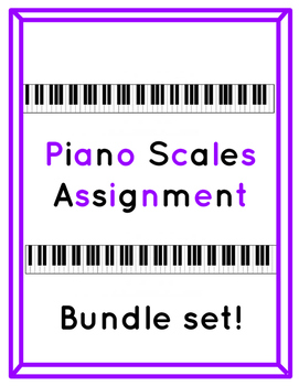 Piano Scales Printable Worksheets Bundle Set