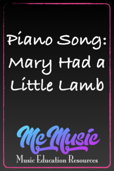Piano Song:  Mary Had A Little Lamb