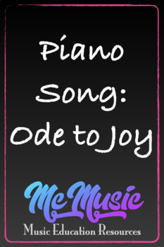 Piano Song:  Ode to Joy
